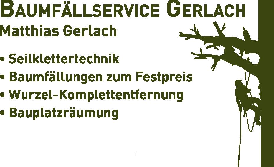 Baumfällservice Gerlach Logo